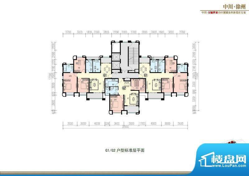 万福世家D17高层户型面积:0.00平米
