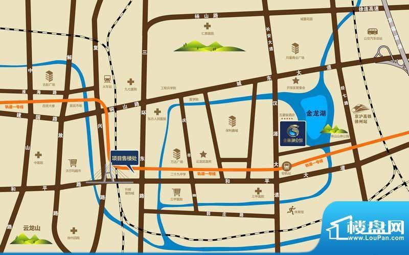 金龙湖公馆交通图