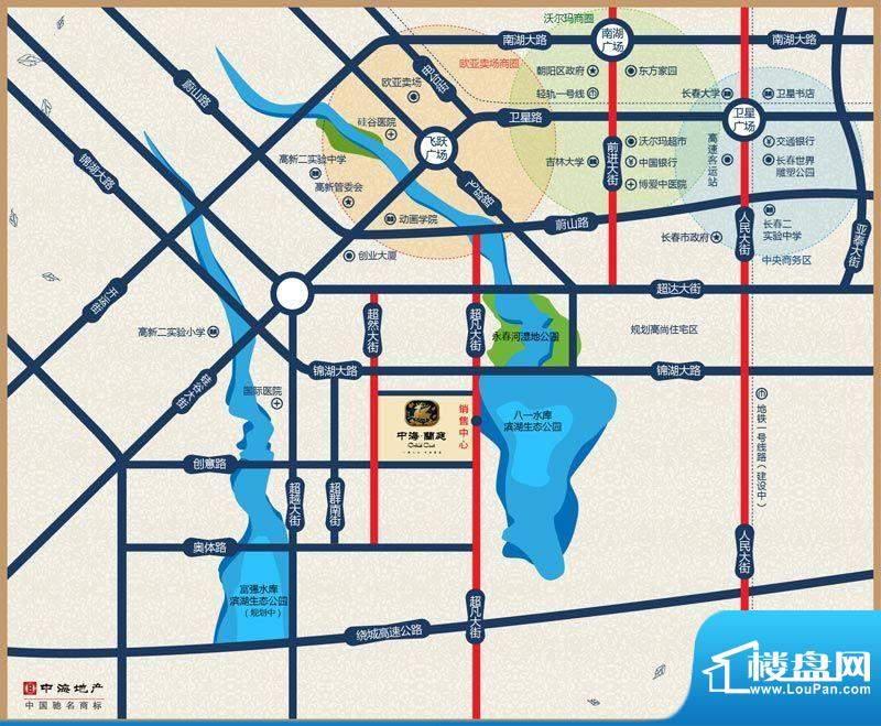 中海蘭庭交通图