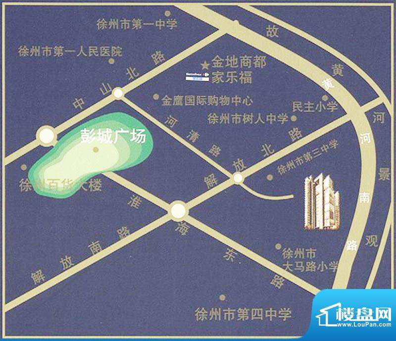 国金时代交通图