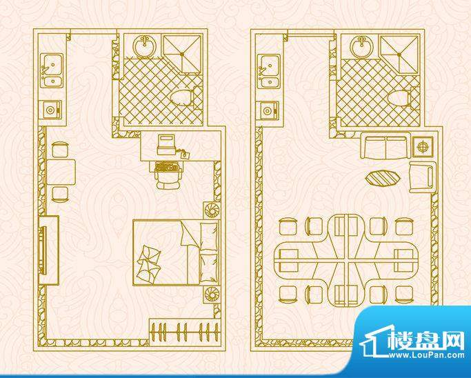 国金时代写字楼户型面积:33.00平米