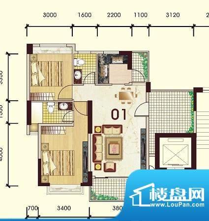 豪景新城观景苑1号楼面积:89.89平米