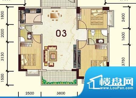 豪景新城观景苑1号楼面积:93.89平米