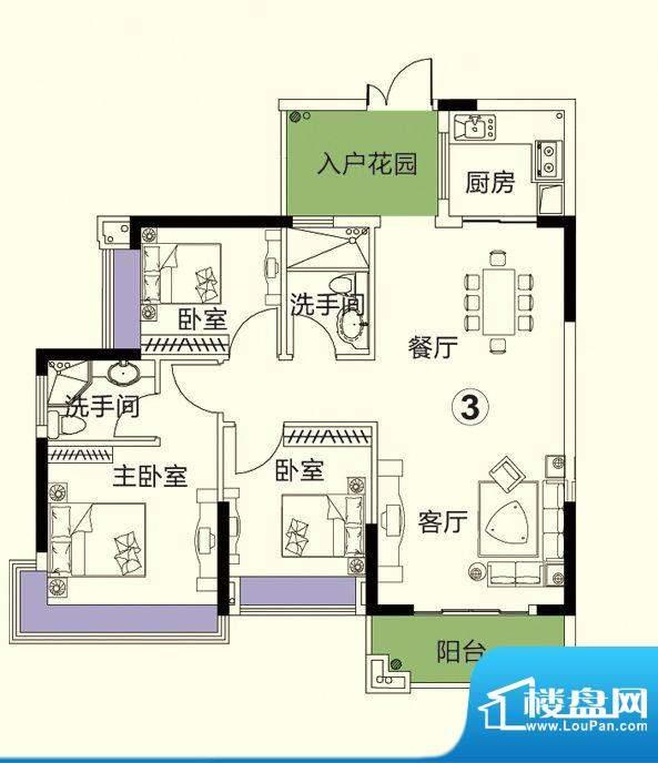 中恒海晖城最新户型面积:120.00平米