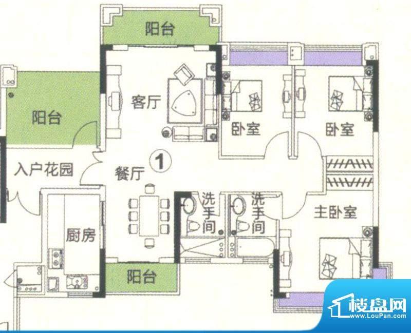 中恒海晖城香缇湾23面积:116.92平米