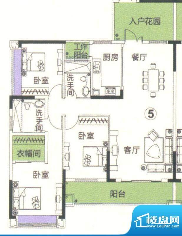 中恒海晖城香缇湾23面积:135.81平米