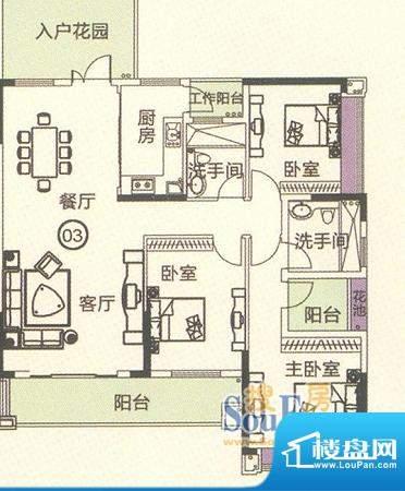 中恒海晖城香缇湾22面积:135.99平米