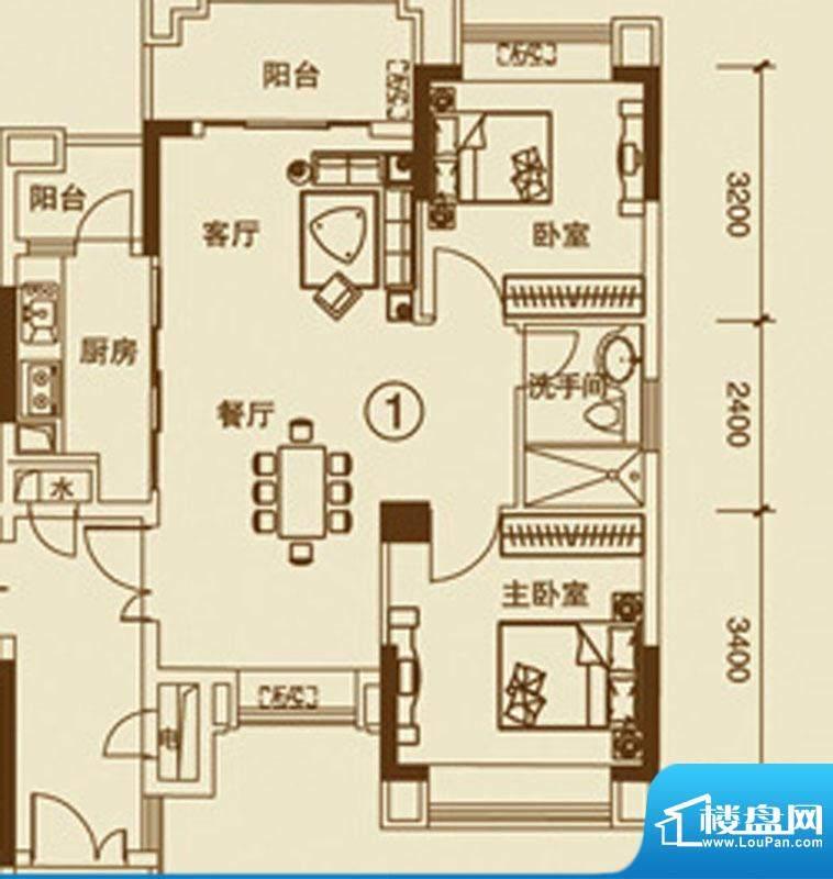 中恒海晖城27户型 0面积:90.00平米