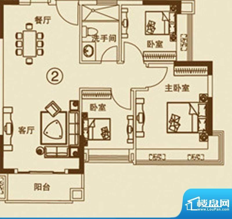 中恒海晖城27户型 0面积:94.00平米