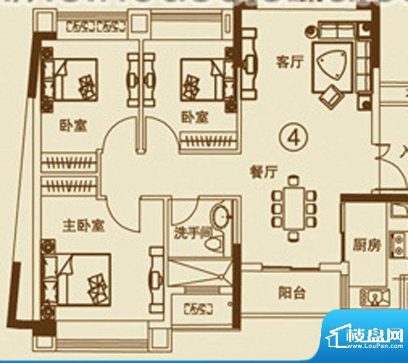 中恒海晖城27户型 0面积:110.00平米