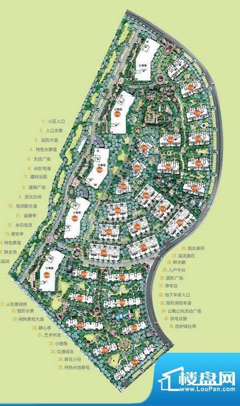 手绘小镇平面图