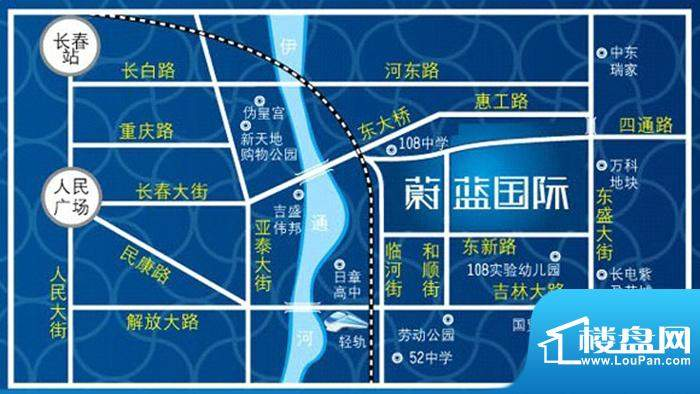 蔚蓝国际交通图