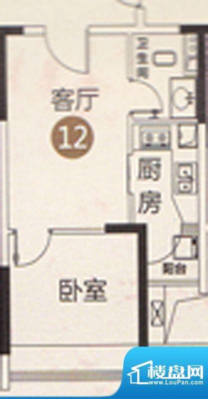 御江南7座公寓12单位面积:41.00平米