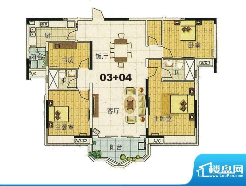 合生君景湾帝瀚廷7栋面积:163.00平米