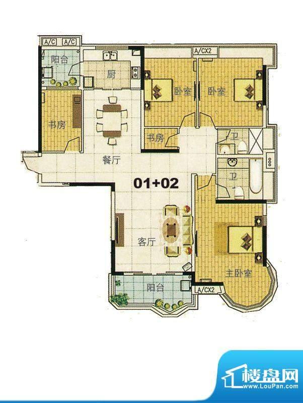 合生君景湾帝瀚廷7栋面积:178.00平米