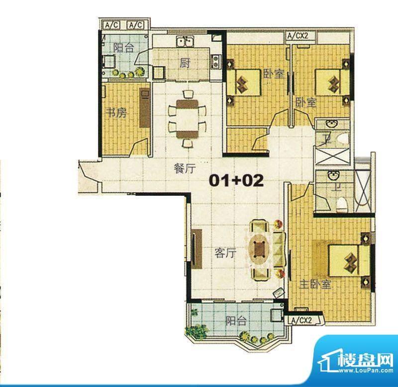 合生君景湾帝瀚廷1、面积:170.00平米