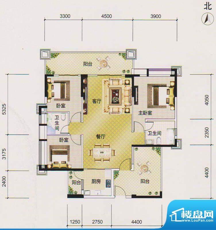 北江明珠2座01单元 面积:135.00平米