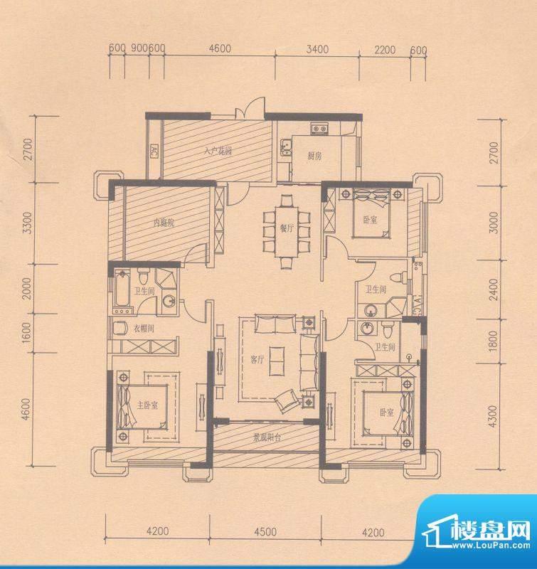 依云天汇B03户型 4室面积:0.00平米