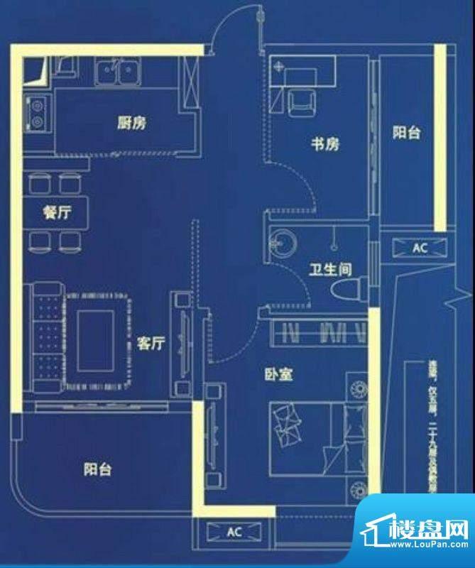 桂丹颐景园郡亭栋 2面积:70.00平米