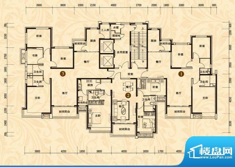 恒大名都7#楼二单元面积:131.75平米