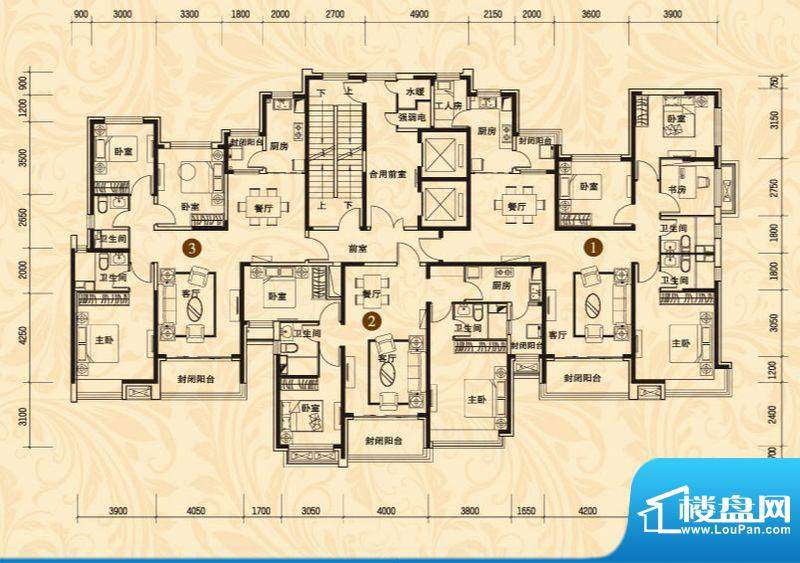 恒大名都8#楼一单元面积:131.29平米