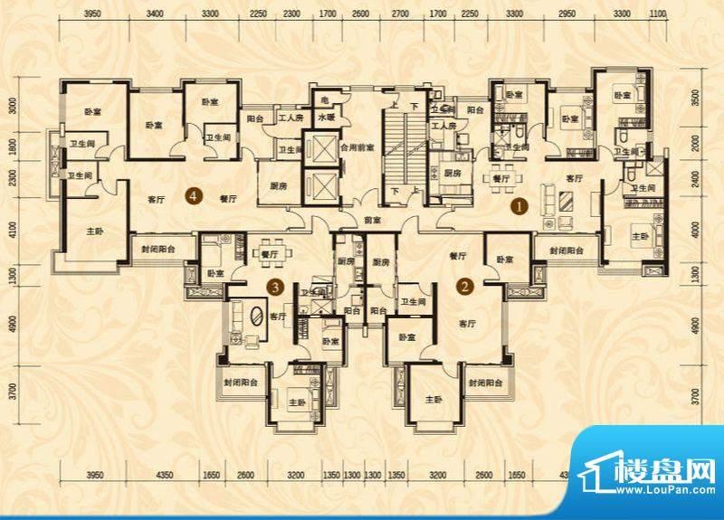 恒大名都8#楼二单元面积:110.65平米