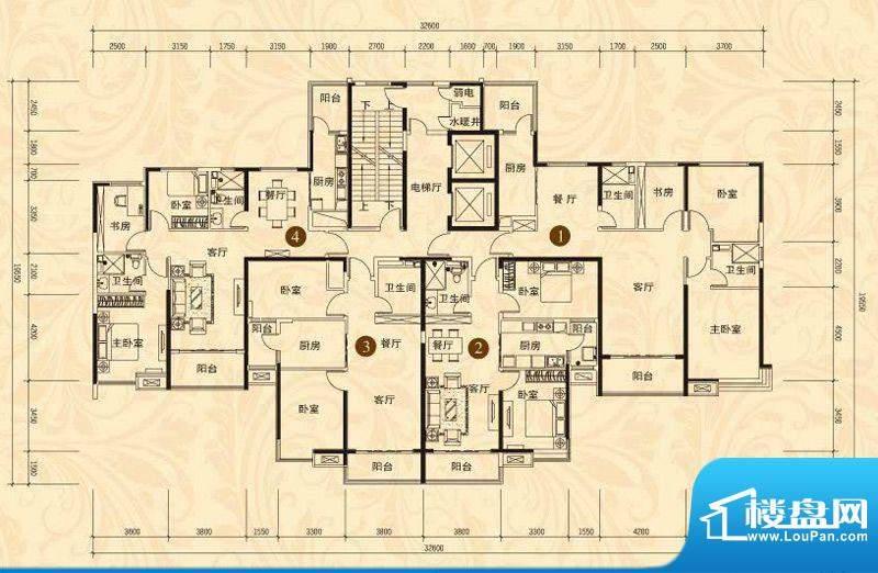 恒大名都2#楼一单元面积:98.34平米