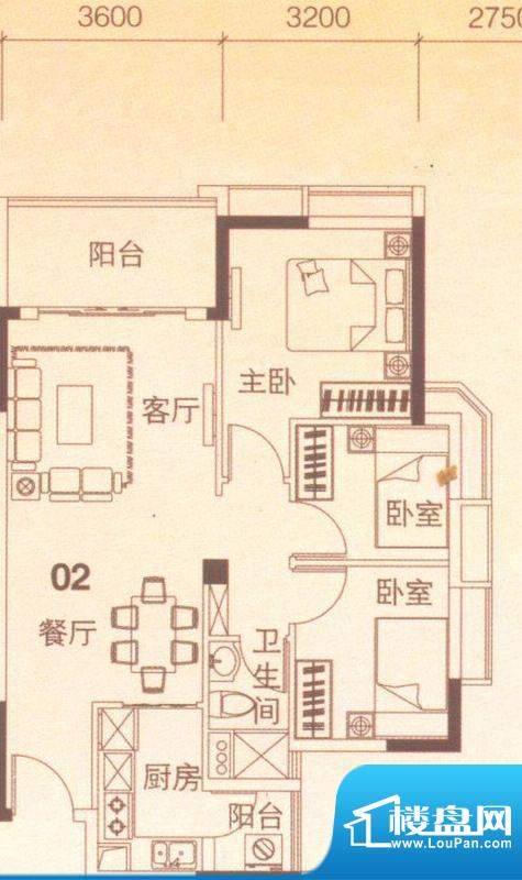 上林苑20栋1、2座02面积:82.00平米