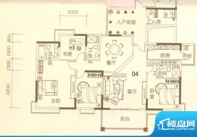 上林苑22栋2座04单位面积:175.00平米