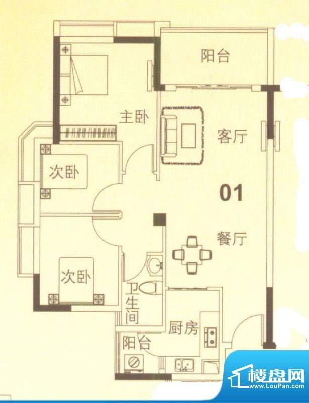 上林苑19栋4、5座01面积:82.00平米