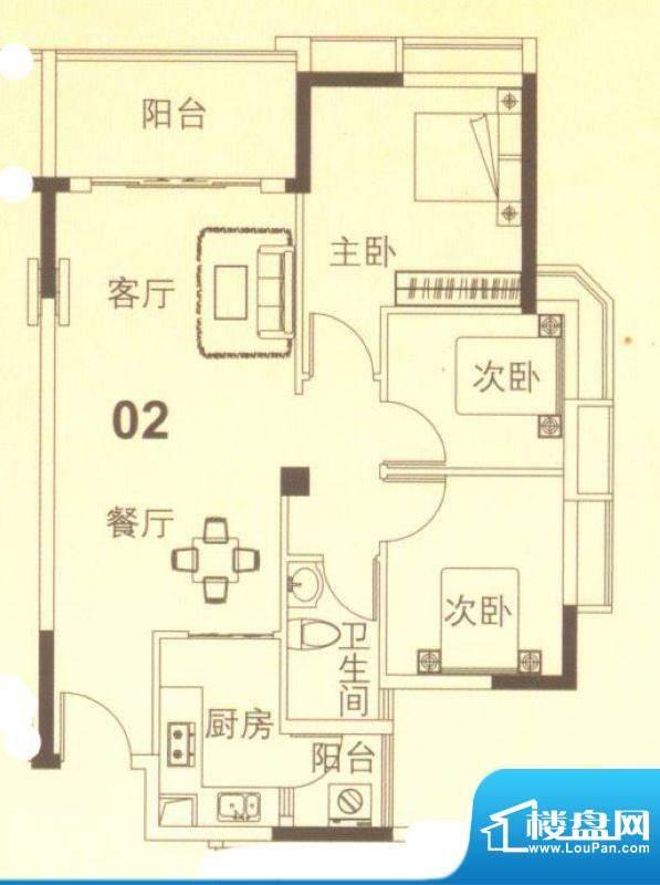 上林苑19栋4、5座02面积:82.00平米