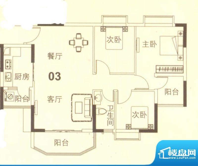上林苑19栋4、5栋03面积:91.00平米