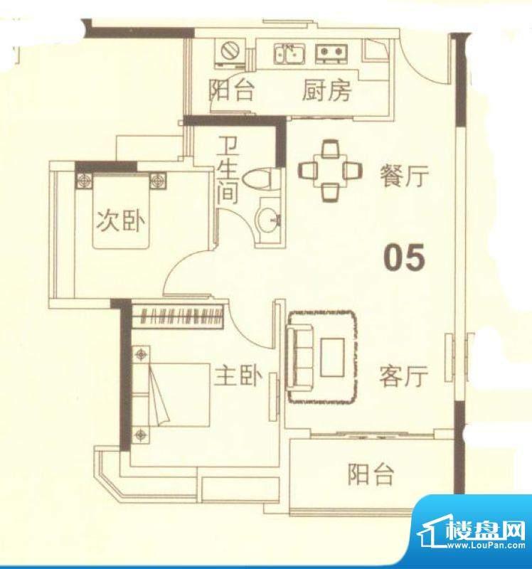 上林苑19栋4、5座05面积:67.00平米