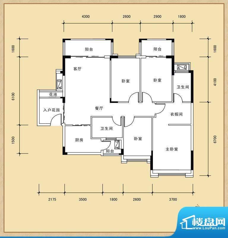 风度广场16座02单位面积:126.73平米