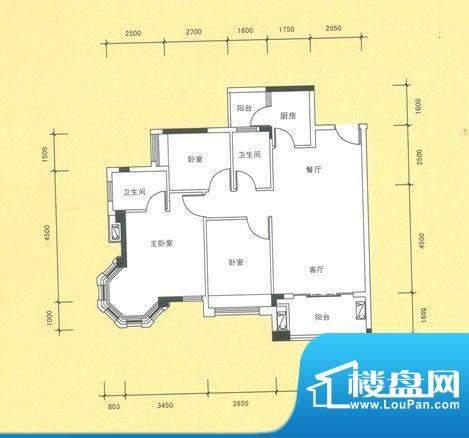 风度广场12栋04户型面积:0.00平米