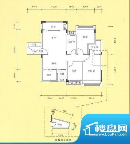 风度广场12栋02户型面积:0.00平米