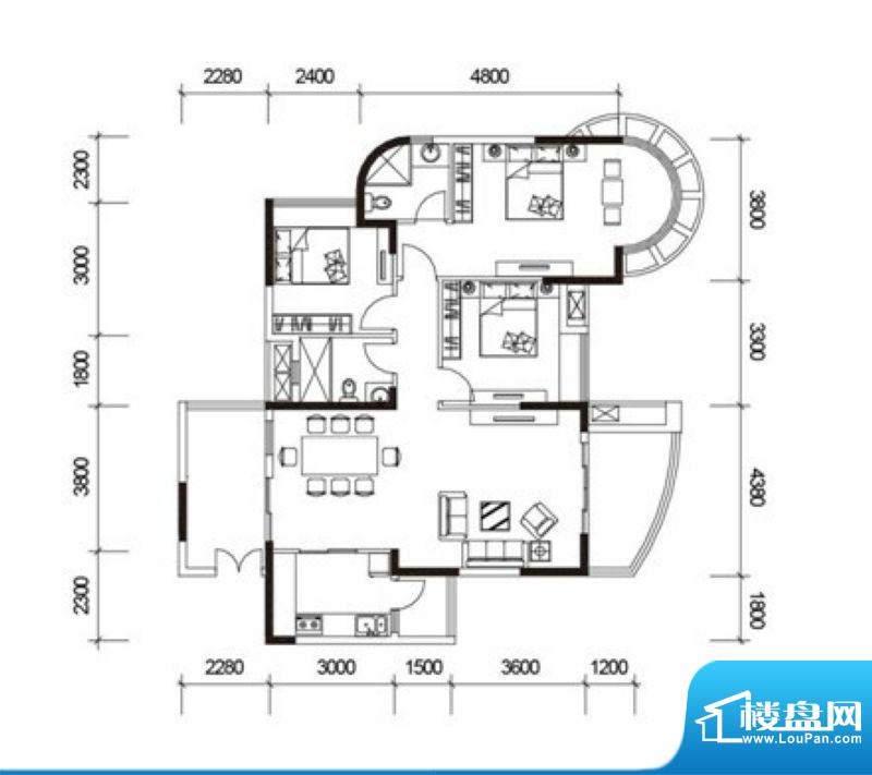 君御海城31、33栋C户面积:128.74平米