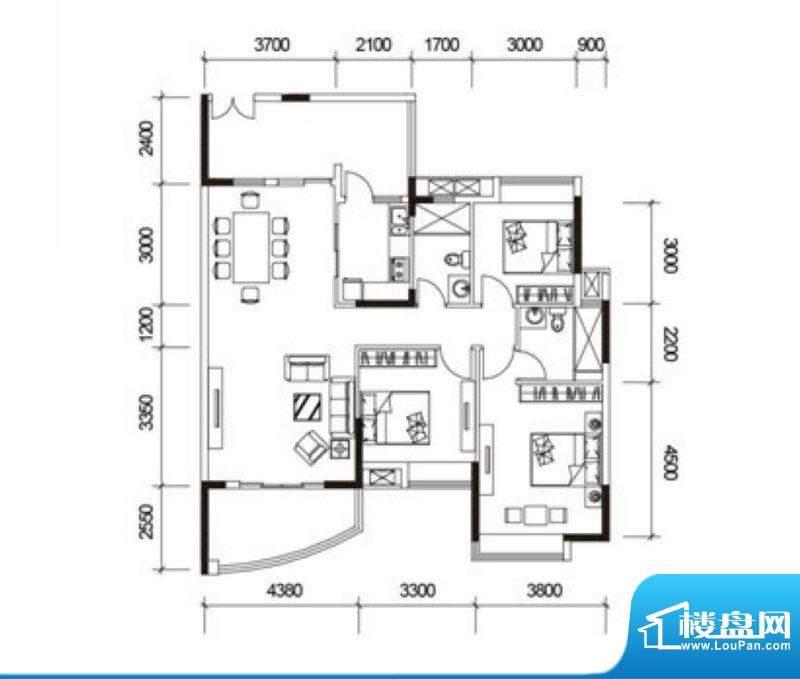 君御海城31、33栋E1面积:125.08平米