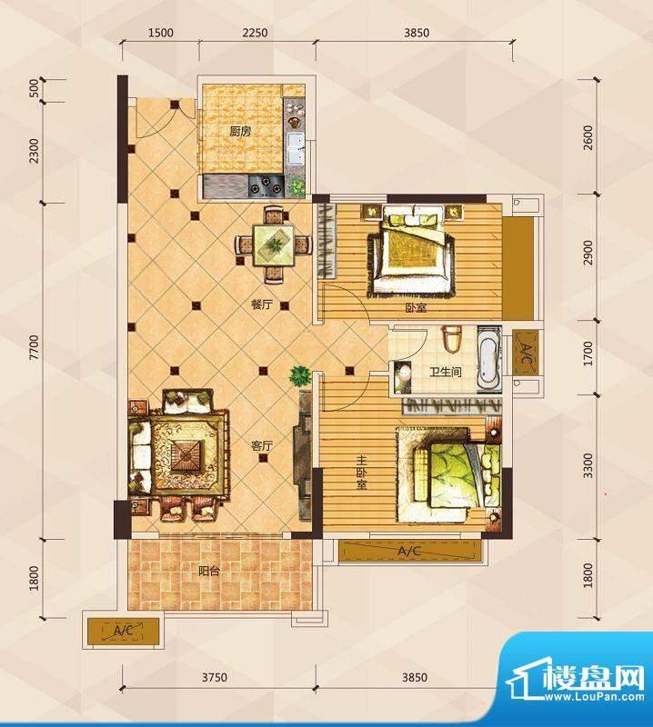 天御尚城1座1幢 04户面积:93.13平米