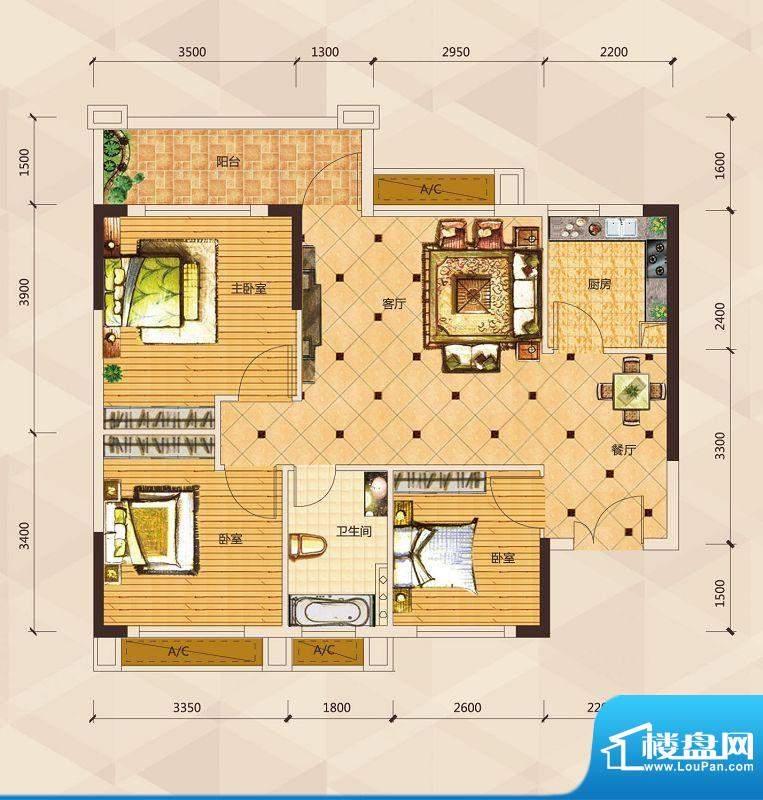天御尚城1座1幢 06户面积:89.79平米