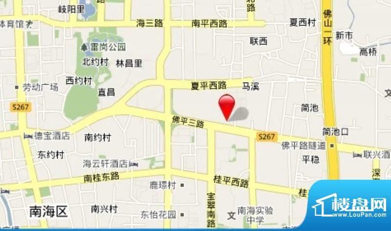 中海万锦东苑交通图