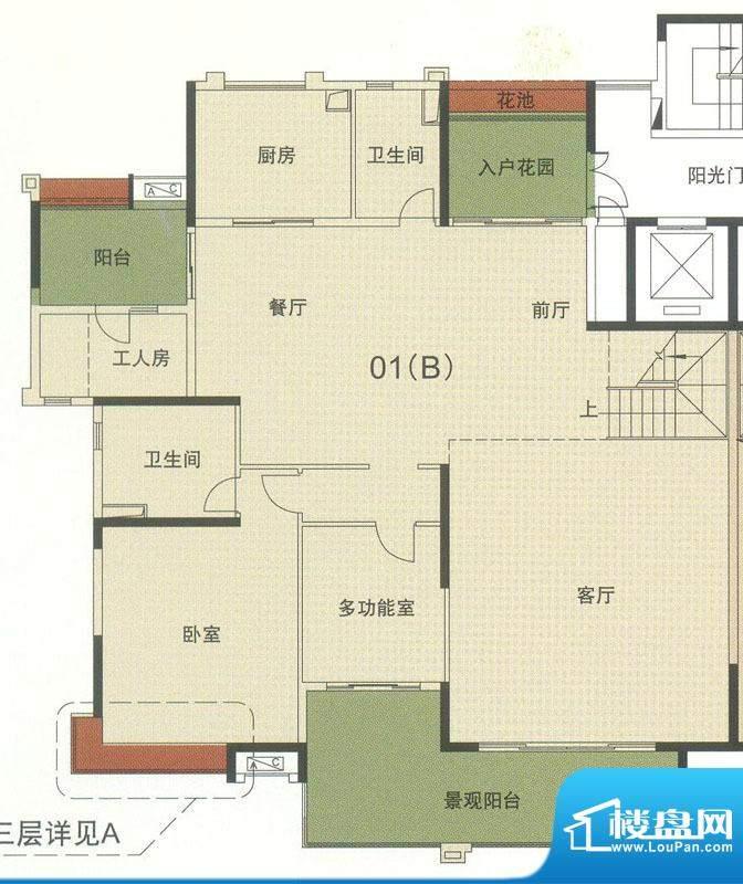 中海万锦东苑中央叠面积:408.12平米