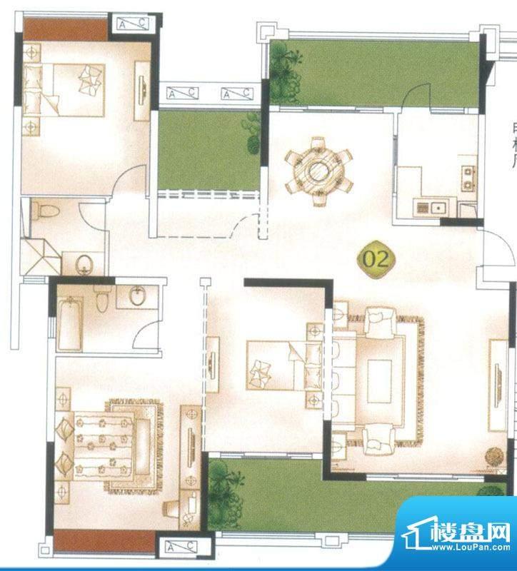 中海万锦东苑尚景华面积:181.24平米