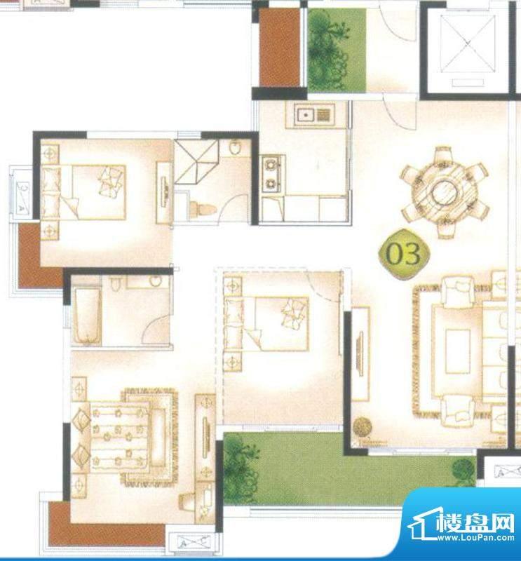 中海万锦东苑怡景洋面积:148.01平米
