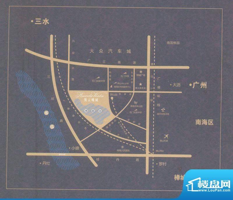 依云曦城交通图