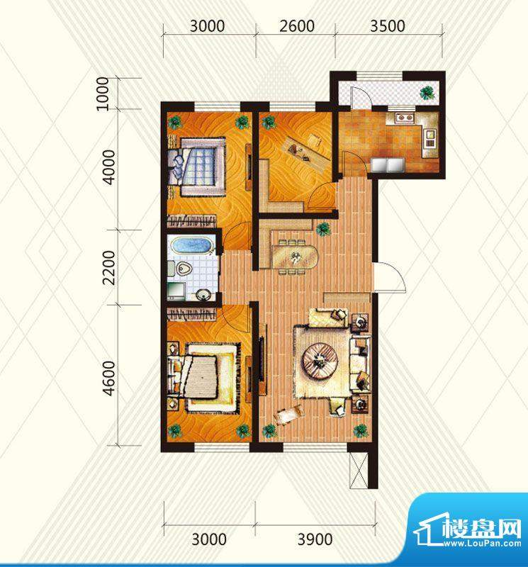 兆丰凯旋明珠7/8号楼面积:106.50平米