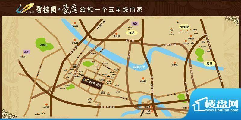 碧桂园华府(龙江)交通图
