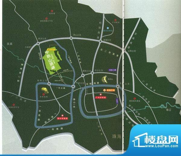 中海山语湖交通图