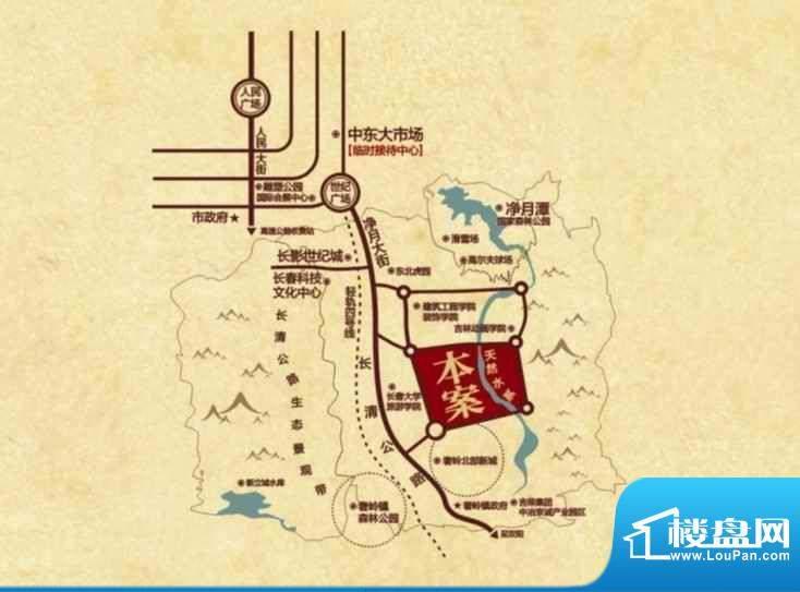 澜山溪谷交通图