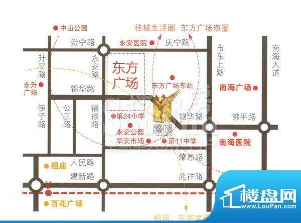 锦隆花园二期交通图